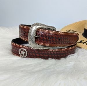 Western Star Concho Star Belt Size 38